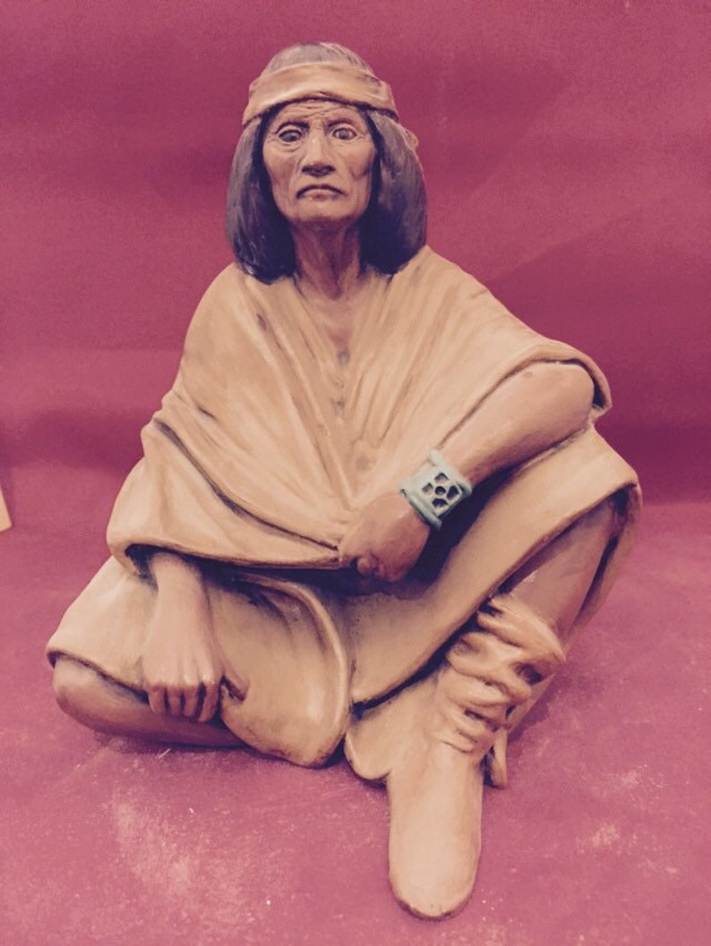 ready to paint Wise Old Indian Man Bisque