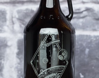 Custom Engraved Personalized Jupiter Beer Growler Perfect Valentines Day Birthday Or Groomsmen Gift Overnight Shipping Included