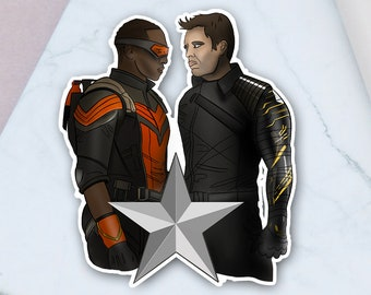 Falcon and the Winter Soldier Inspired Stickers - Car Decal, Laptop, Waterbottle Sticker, Sam, Bucky