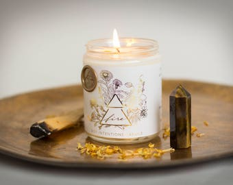 Fire Element Botanical Intention Candle
