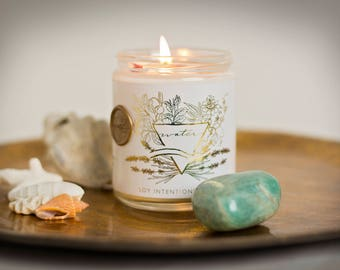 Water Element Botanical Intention Candle