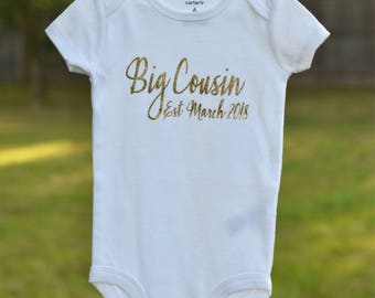 Big brother sister cousin pregnancy announcement bodysuit