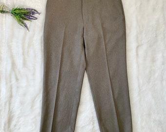 80s Mens Black Casual Pants M 30x28
