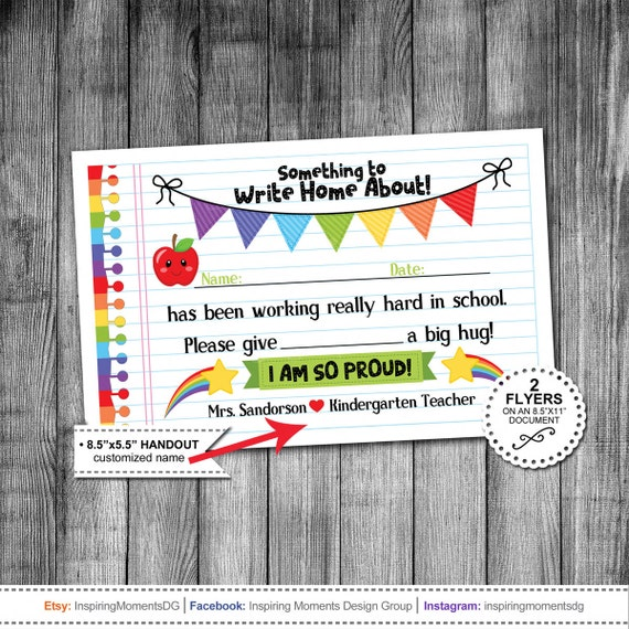 teachers classroom reward flyer handout kindergarten etsy