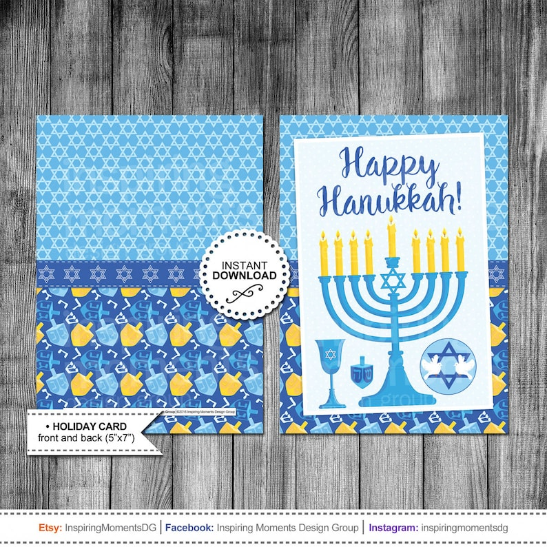 photograph about Printable Hanukkah Card identified as Hanukkah Card Menorah Candle Satisfied Hanukkah Getaway Card Greeting Card Printable Quick Down load