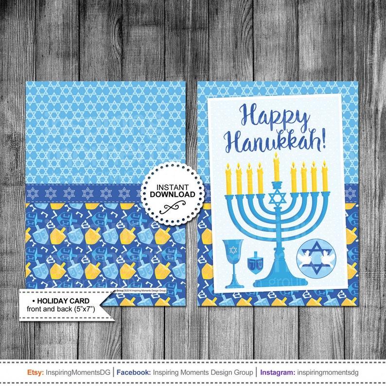 photograph about Printable Hanukkah Card identified as Hanukkah Card Menorah Candle Satisfied Hanukkah Getaway Card Greeting Card Printable Quick Down load