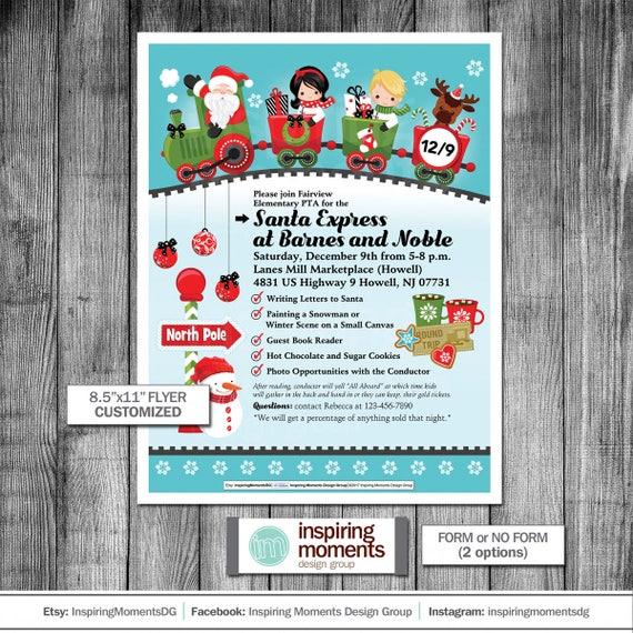 santa express event flyer printable polar express etsy