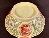 Chinese Porcelain Bowl with Imperial Dragons and Flowers