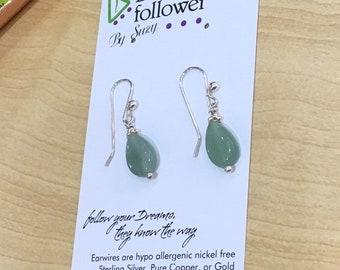 Adventurine Leaf/ summer/ leaves/ leaf/ bottle green