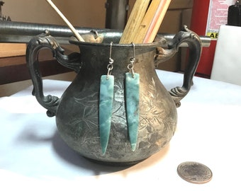 Green Mountain Jade Spear Halo Earrings / Jade Earrings / Spear Earrings / Mountain / Mountain Earrings / Colorado Made