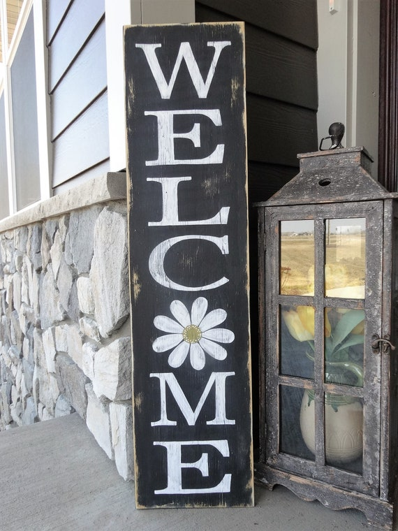 Welcome Sign Welcome Wood Sign Welcome Front Door Sign Etsy