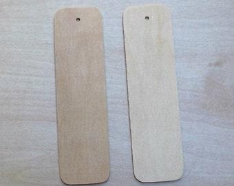 "Unfinished Wood Bookmark Cutout 5-3/8"" x 1-1/2"""