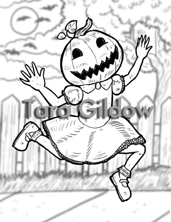 Halloween Girls Digital Download Coloring Sheets Pages Etsy