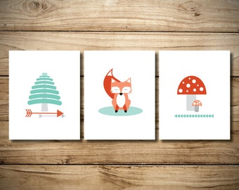 Fox Woodland Print