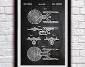 Star Trek Enterprise- Action Figure Toy Decor - Patent Print Poster Wall Decor - 0992