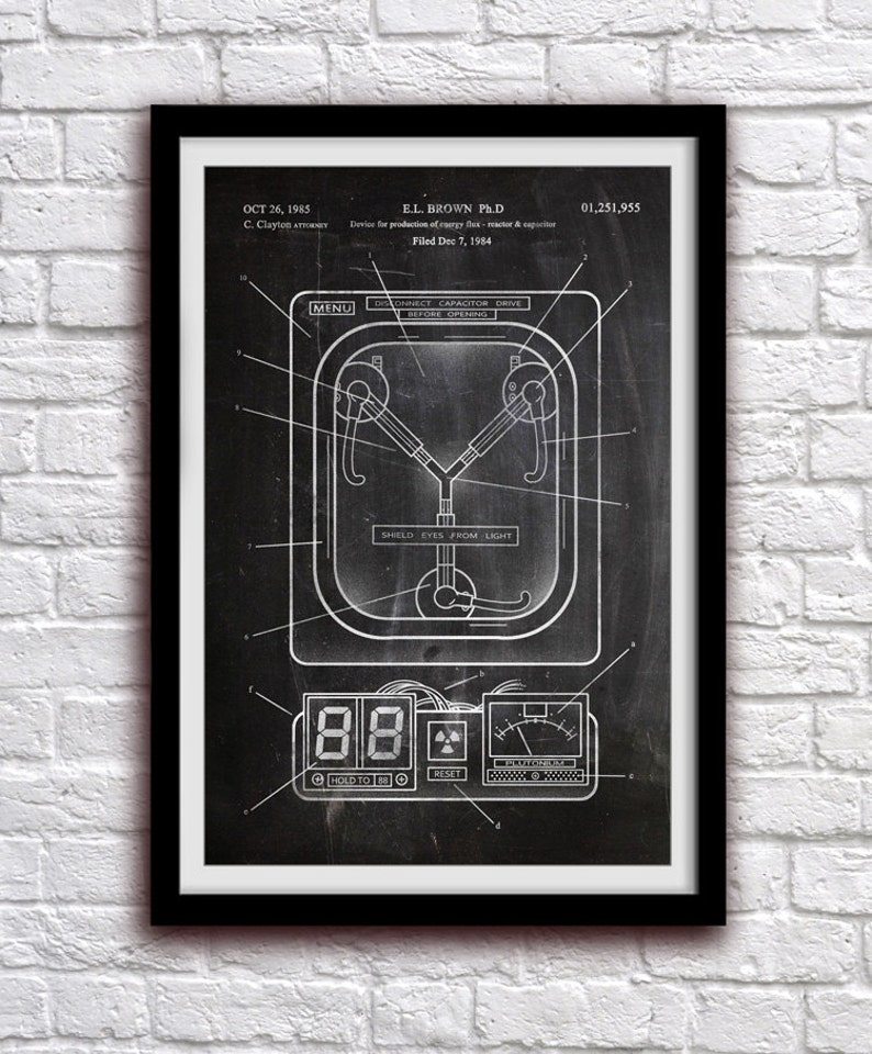 Flux Capacitor  Back To The Future  Action Figure Toy Decor image 0