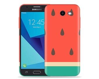 1334a314dcae4 For Samsung Galaxy J3 Emerge Case  J3 Prime  J3 2017  J3 Luna Pro  Amp  Prime 2  Express Prime 2  Big Watermelon Cool Design Hard Phone Case