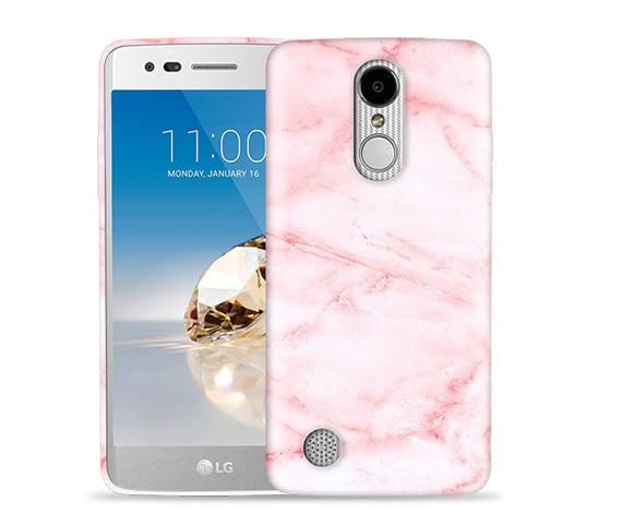 c8c41990125a LG Aristo 2 Case, Aristo 3 Case, Tribute Dynasty Case, Fortune, Phoenix 3,  K8 2017, Risio 2, Rebel 2 Case #Pink Marble Design HardPhone Case