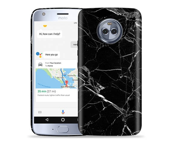 brand new 05b1d 126b1 Motorola Moto X4 Case - Moto X4 Case - Motorola X4 4th Gen Case #Black  Marble Cool Design Hard Phone Cover,Anniversary Gift,Birthday's