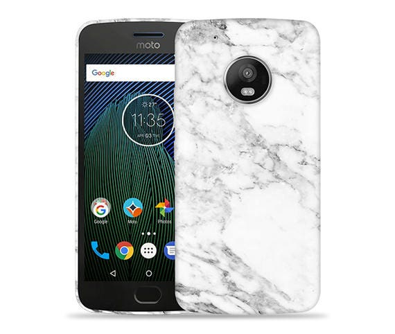 new styles 8bb3e 5f7f3 Motorola Moto G5 Plus #Marble Design Hard Phone Case