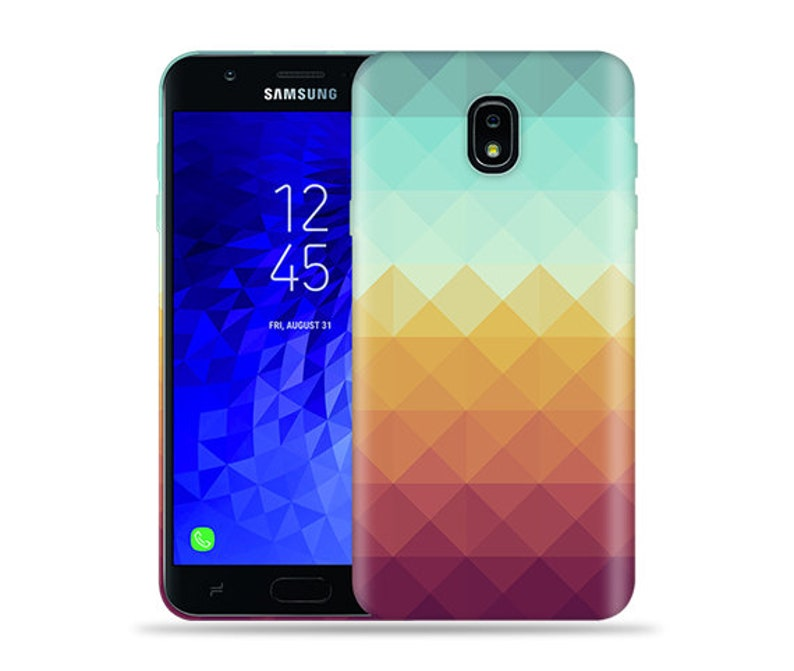 For Samsung Galaxy J7 (2018) Case / Crown / J7 Refine Case / J7 V 2nd Gen /  J7 Star / SM J737 / SM-J720 #Pixel Waves Design Hard Phone Case