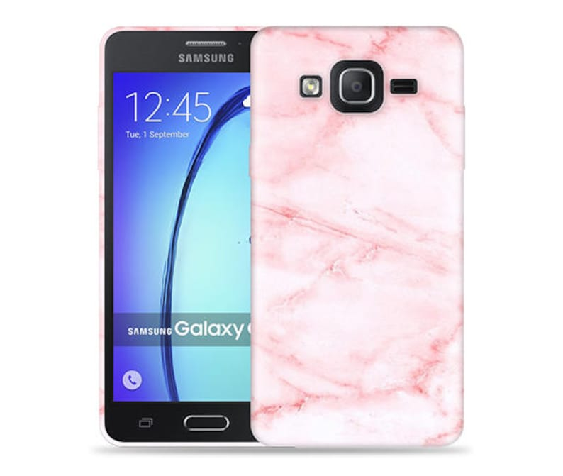 online store 59fe0 68b09 For Samsung Galaxy On5 Case - On 5 Case - SM-G5500 Case #Pink Marble Cool  Design Hard Phone Case,Anniversary Gift,Birthday's