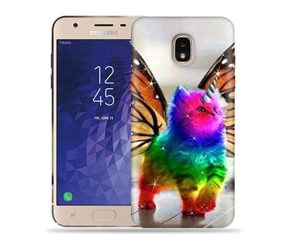 big sale 1d67d 7ed9b For Samsung Galaxy J3 2018 Case / J3 orbit / Express Prime 3 Case / J3 V  Case / J3 Star / Amp Prime 3 #ButterflyCat Hard Phone Case