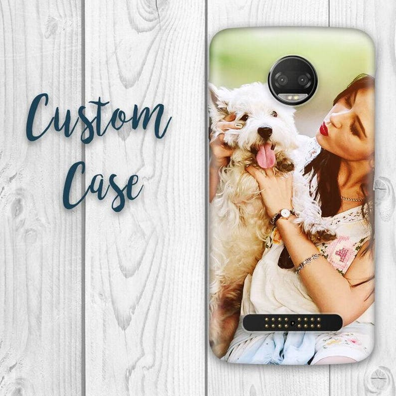 online store bc641 c19e1 Motorola Moto Z2 Play Case/ Moto Z2 Force Case- Custom Photo Case, Design  Your Own Personalized Case, Monogrammed Phone,Anniversary Gift