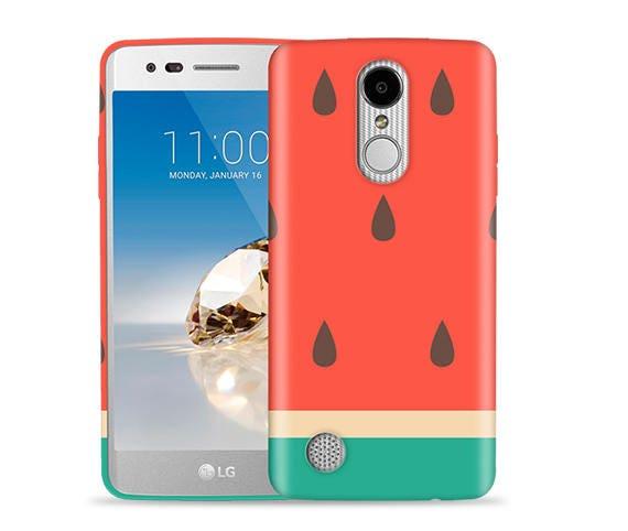 LG Aristo 2 Case, Aristo 3 Case, Tribute Dynasty Case, Fortune, Phoenix 3,  K8 2017, Risio 2, Rebel 2 Case #Big Watermelon Design Hard Case