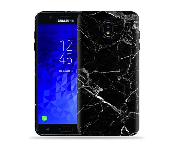 timeless design 223f6 b1668 For Samsung Galaxy J7 (2018) Case / Crown / J7 Refine Case / J7 V 2nd Gen /  J7 Star / SM J737 / SM-J720 #Black Marble Design Hard Phone Case
