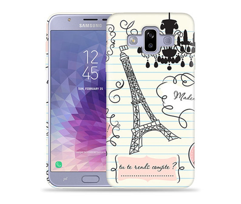huge selection of 83a23 4d3a0 For Samsung Galaxy J7 Duo 2018 Case / Galaxy J7 DUOS Case / Galaxy SM-J720M  Case #When in Paris Design Hard Phone Case,Anniversary Gift