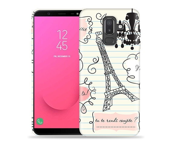 buy online 2c56c e053d For Samsung Galaxy J8 (2018) SM-J810 Case / Galaxy J8 Case / Galaxy J810  Case #When in Paris Design Hard Phone Case,Anniversary Gift