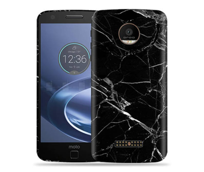 hot sale online caf43 b6148 Motorola Moto Z Play, Z Force Case - Moto Z Droid Case - XT1650 Case #Black  Marble Cool Design Hard Phone Cover,Fathers Day Gift