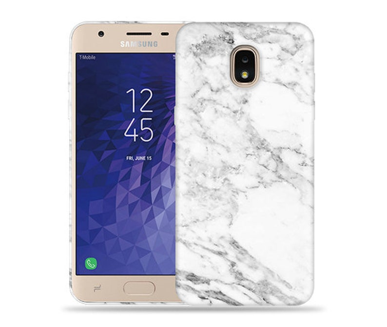 best service cfc21 888d2 For Samsung Galaxy J3 2018 Case / J3 orbit / Express Prime 3 Case / J3 V  Case / J3 Star / Amp Prime 3 #Marble Design Hard Phone Case