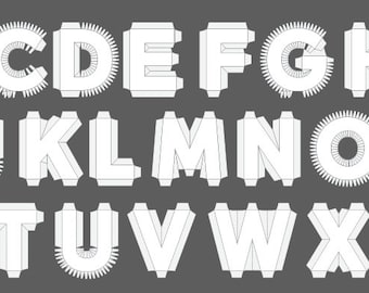 3d cardboard letter number punctuation templates by dankoletters complete set alphabeta z 18 3d cardboard letter templates scalable vector pdfs spiritdancerdesigns Images