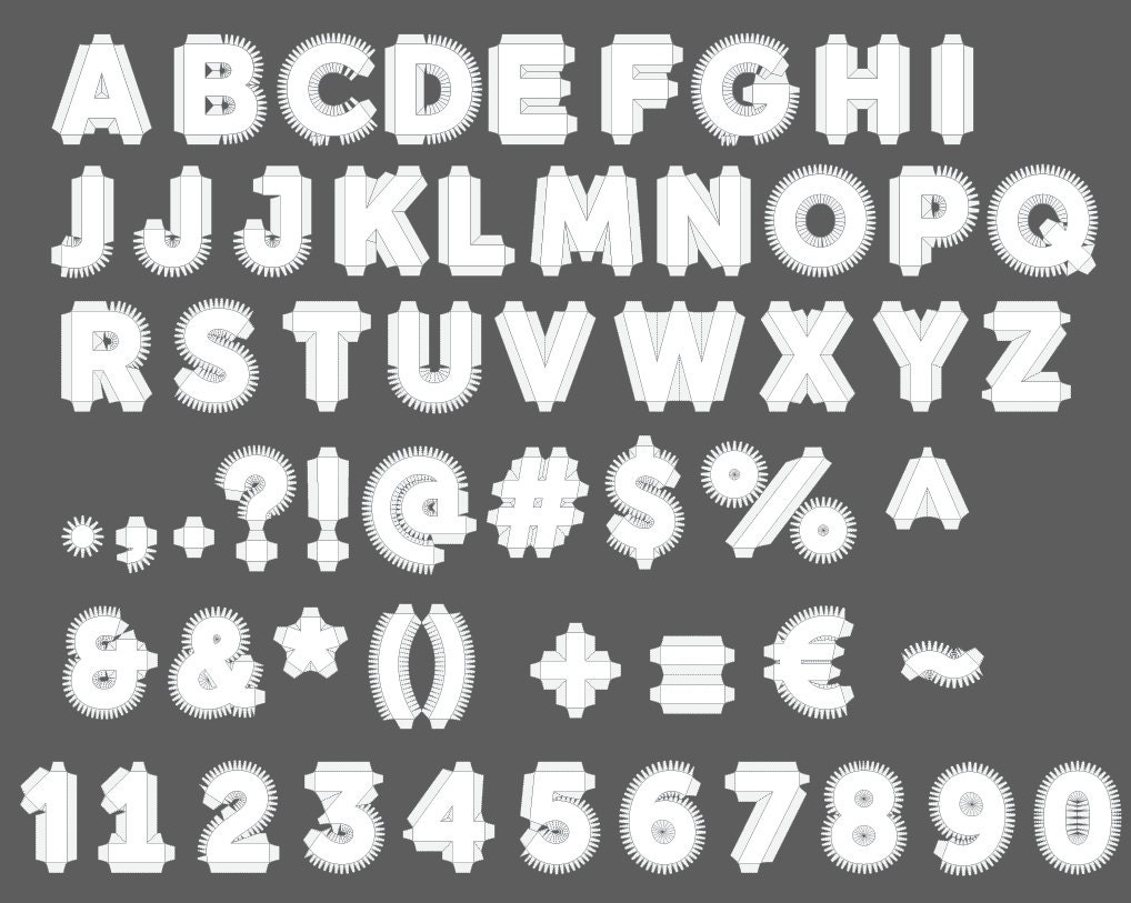 MASTER-SET All Alphabet Numbers Punctuation 18''