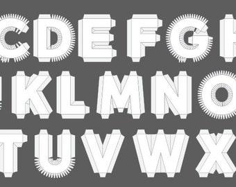 3d cardboard letter number punctuation templates by dankoletters spiritdancerdesigns Images