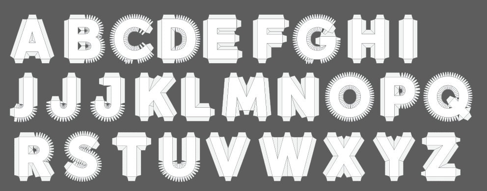 il_fullxfull.694097685_e4d8  D Letter Template Pdf on cut out, printable box,