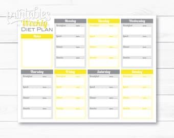 Meal planner for weight loss template printable meal planner etsy meal planner with calorie counter weekly diet planner editable printable meal planner for weight loss menu planner template fitness plan maxwellsz