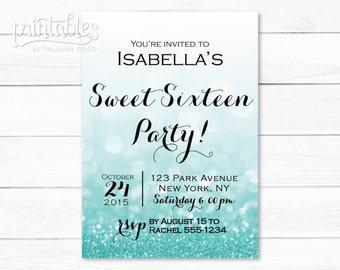 sweet 16 invitations purple bokeh sparkly sweet 16 birthday etsy