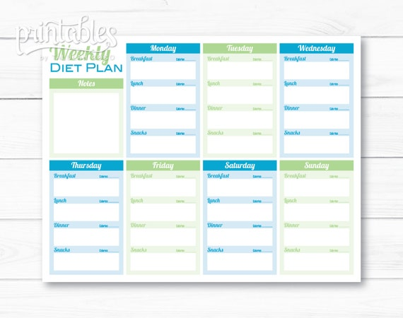 Weekly diet template gallery template design ideas for Freemarker template templateexception