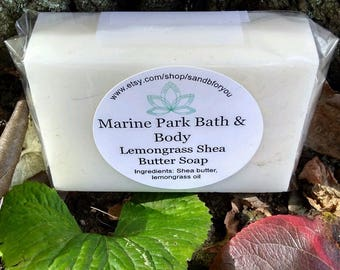 All Natural Handmade Lemongrass made with Shea Butter - Gentle and Moisturizing Soap