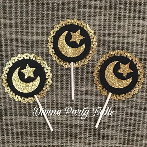 Eid MUBARAK no Personalizado Pegatinas Ramadán celebración musulmana Dulce D3B