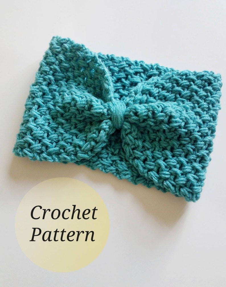 Crochet Headband PATTERN - Headband Crochet Pattern - Maker Gift ideas -  INSTANT DOWNLOAD - Turban Headband - Crochet Head Wrap Pattern