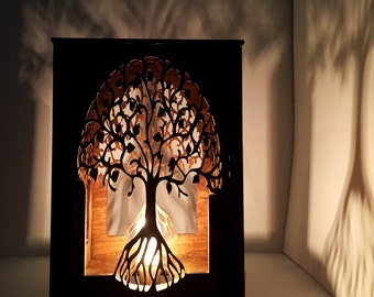 Table Lamp   Lamp   Desk Light   Laser Cut Wood Lamp   Laser Cut Table Lamp    Night Light   Lantern   Tree Of Life