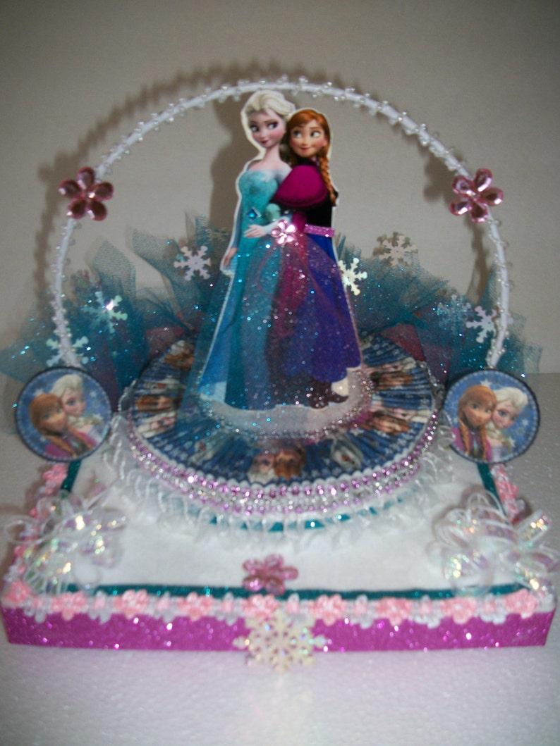 Inspired Disney Princess Ana And Elsa Original Cake Topper