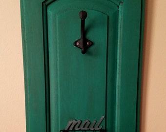 Repurposed Cabinet Door Mail Holder