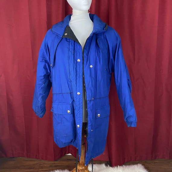 Vintage andy johns blue womens parka jacket size m