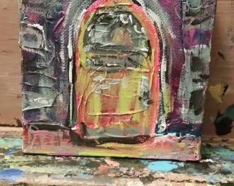 Door. Mixed media. Art. Fine art. Home decor