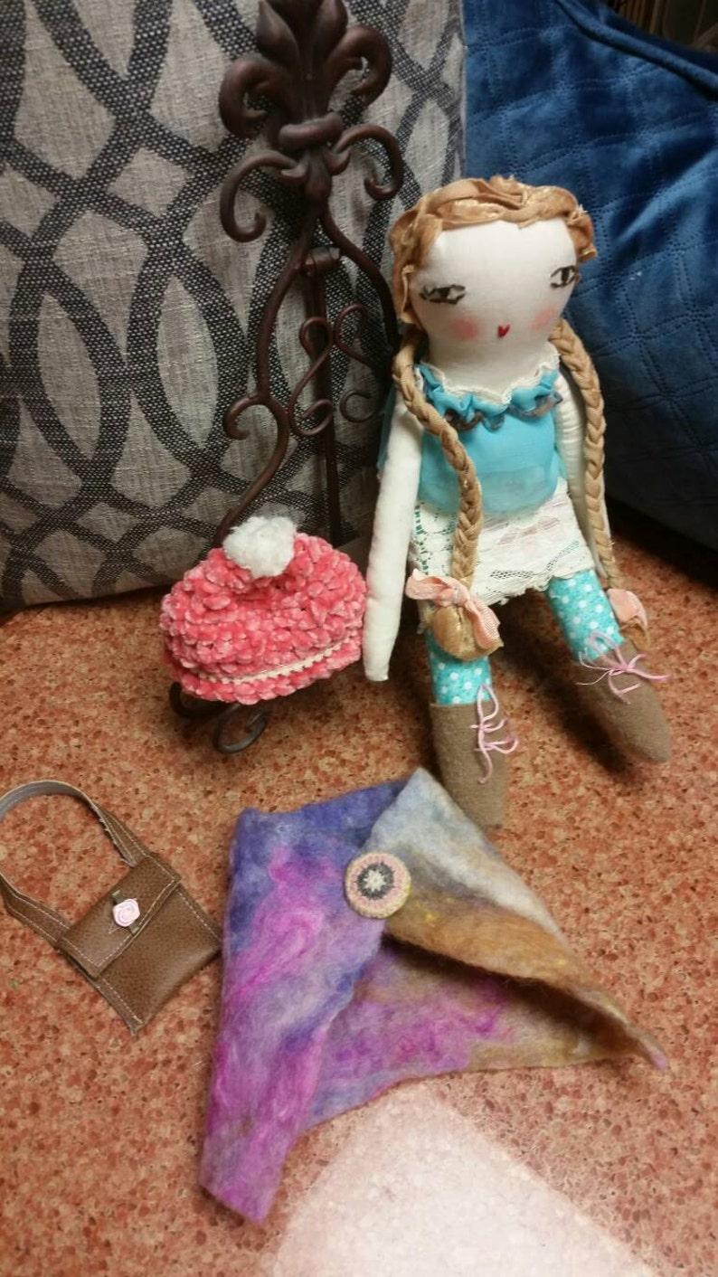 Sale Chelsea Girl doll Folk art Soft art doll Rag doll Child/'s toy Prim doll Reduced price